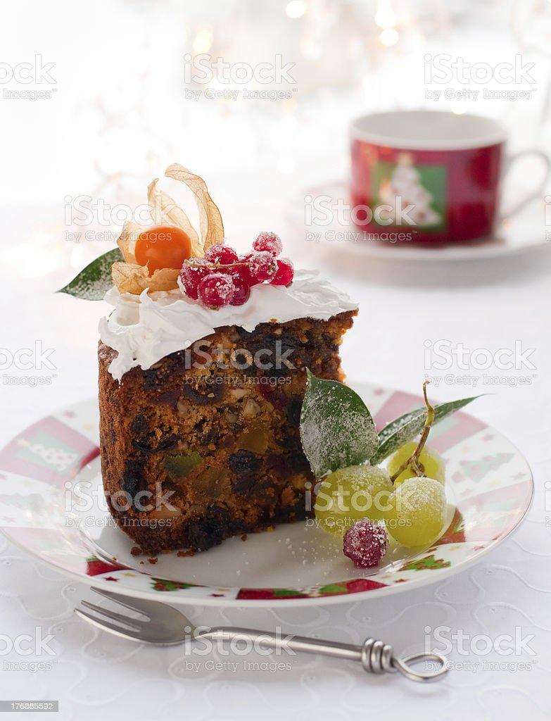 Christmas fruit cake royalty-free stock photo