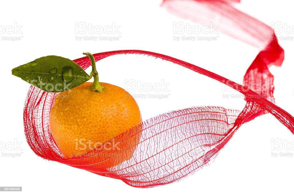 christmas fruit. clementine royalty-free stock photo