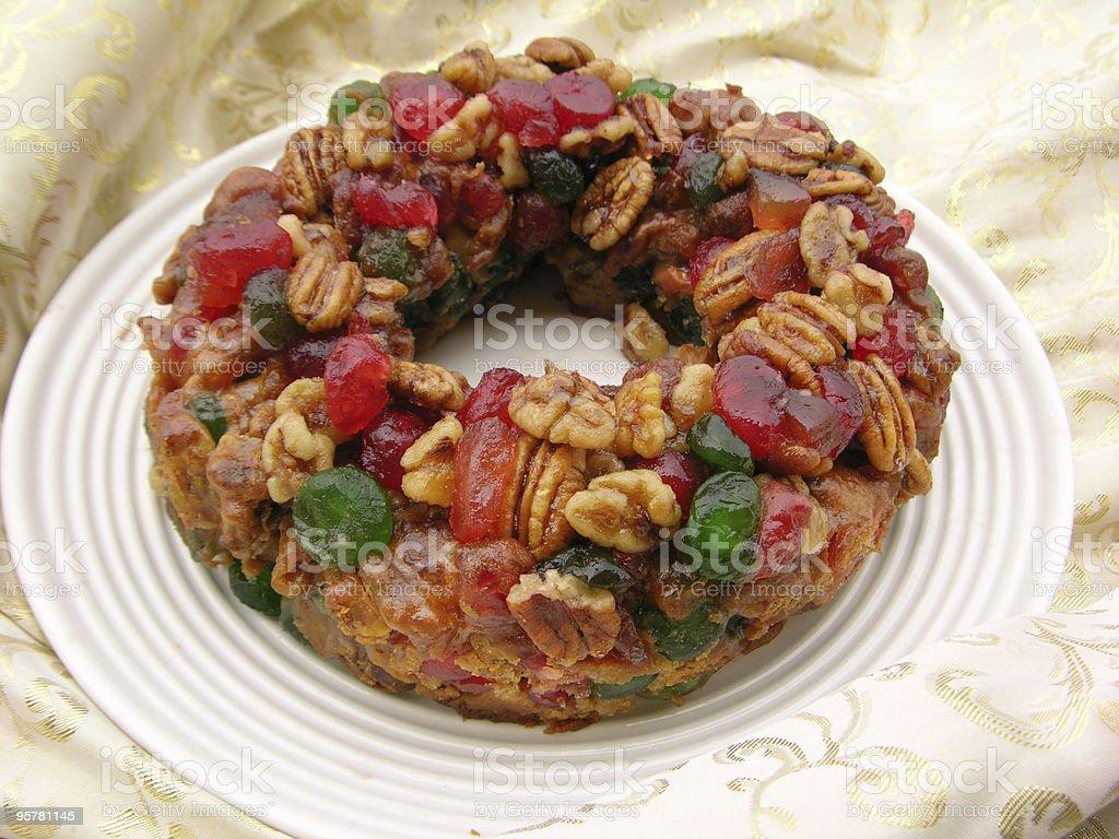 Christmas Fruitcake stock photo