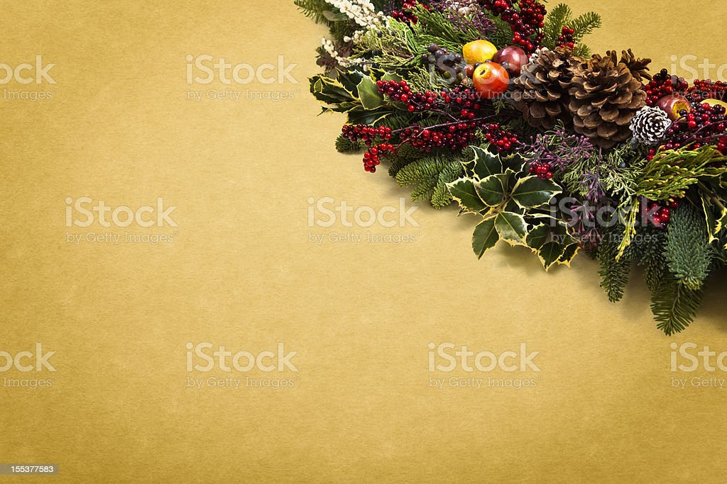 Christmas Garland Background royalty-free stock photo