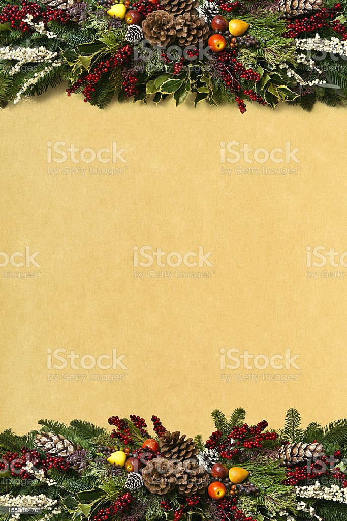 Christmas Garland Background royalty-free stock photo