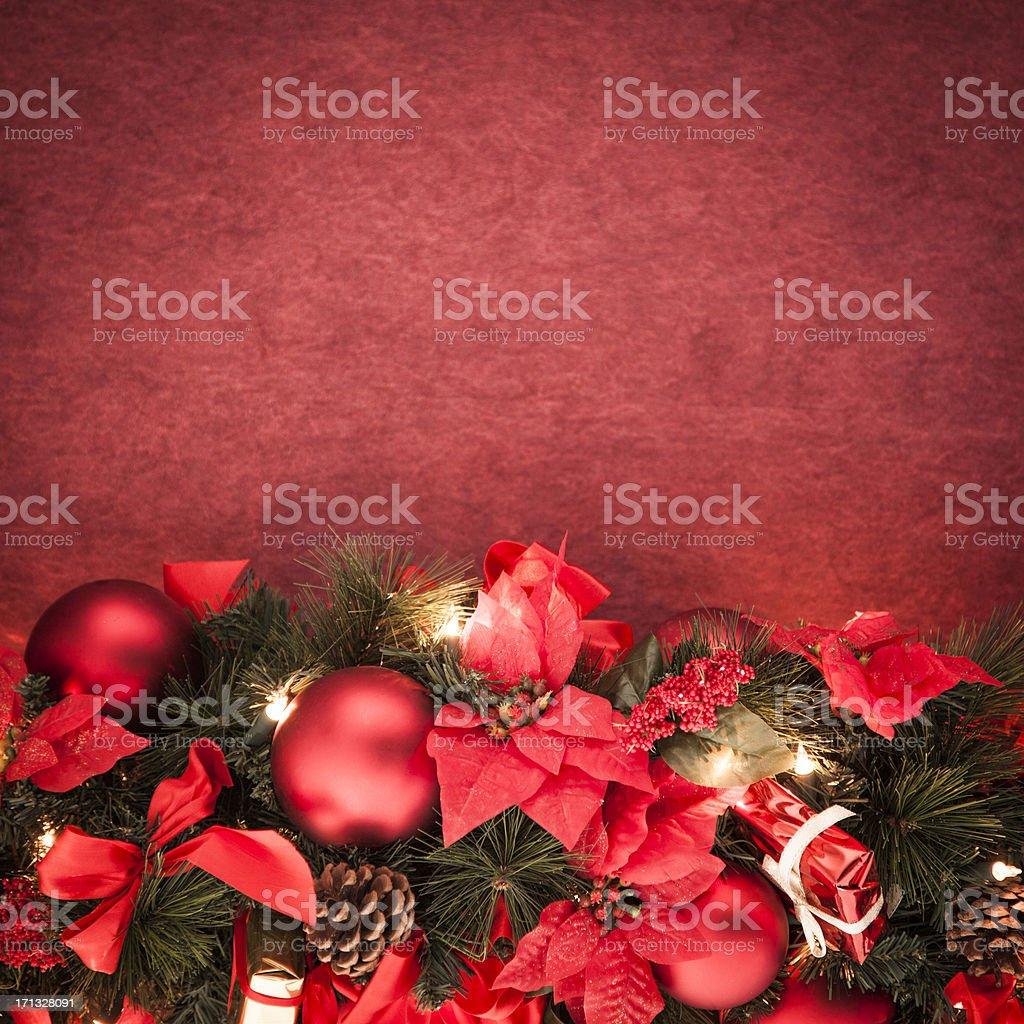 Christmas Garland Background stock photo