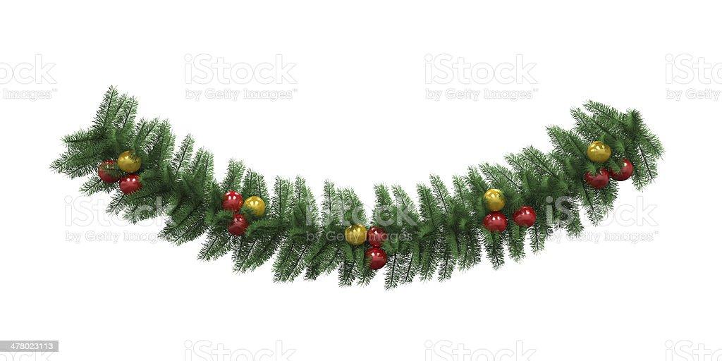 Christmas Garland Decoration stock photo