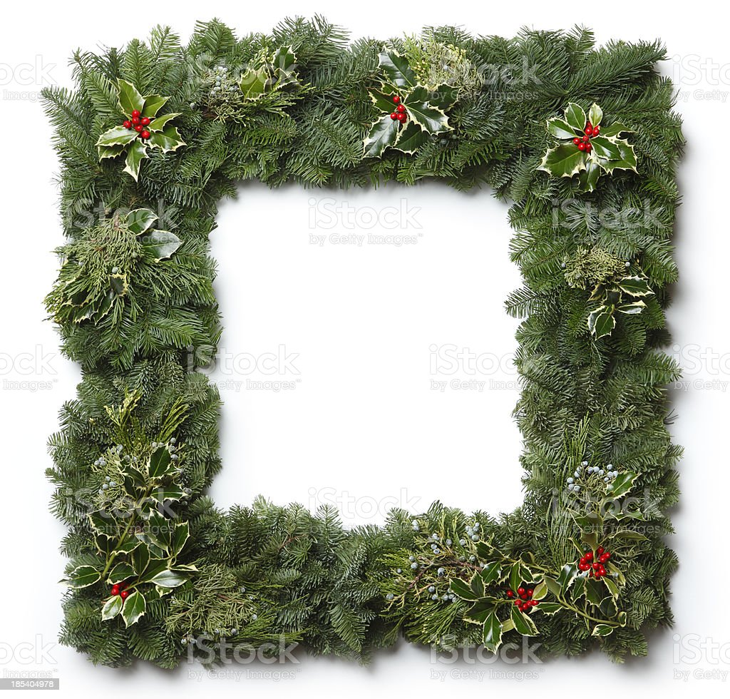Christmas Garland Frame royalty-free stock photo