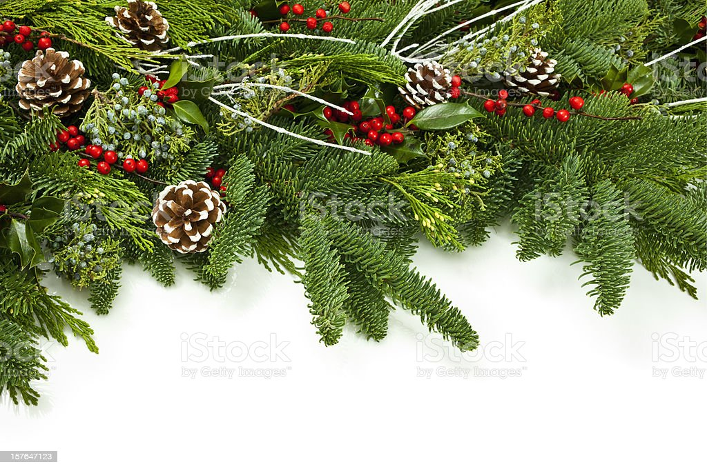Christmas Garland royalty-free stock photo