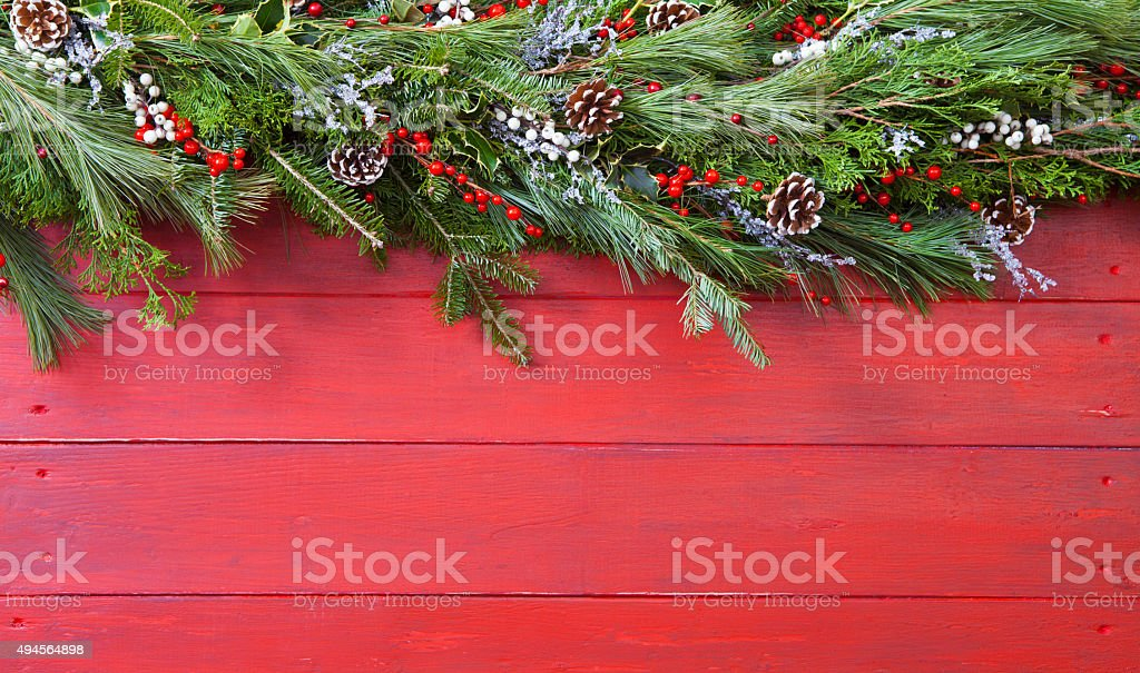 Christmas Garland stock photo