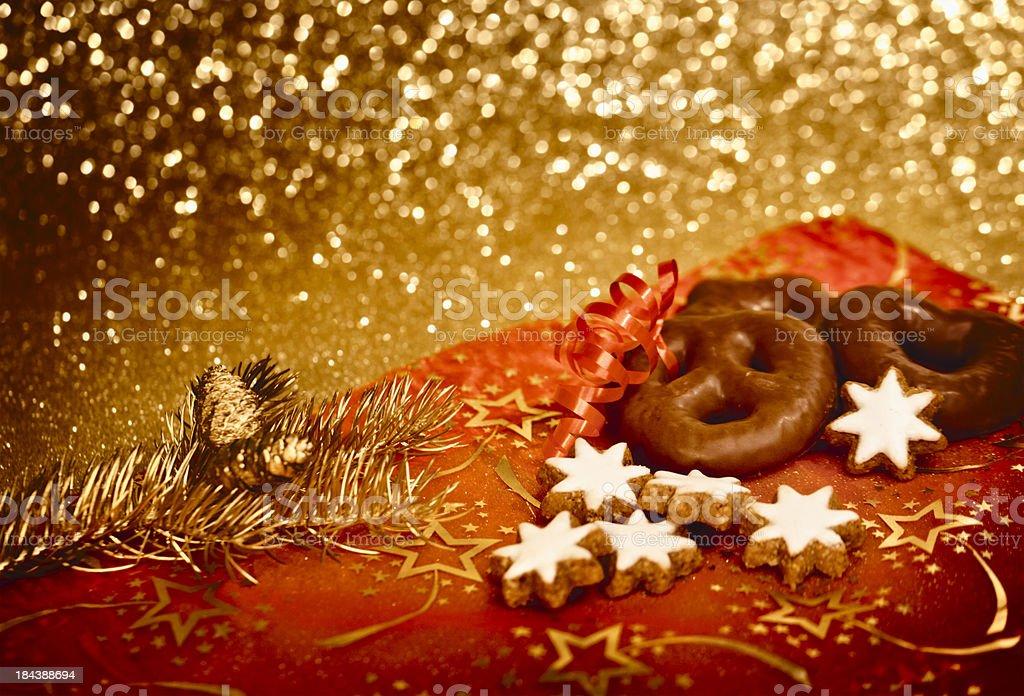 Christmas german gingerbread cookies royalty-free stock photo