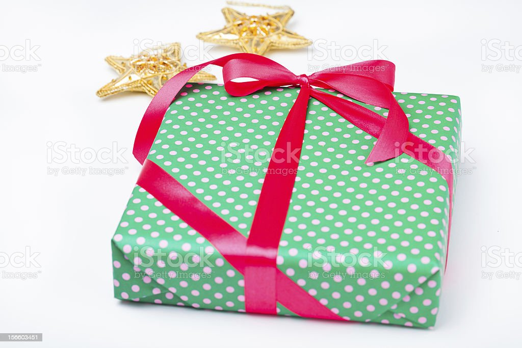 Christmas gift and decorations royalty-free stock photo