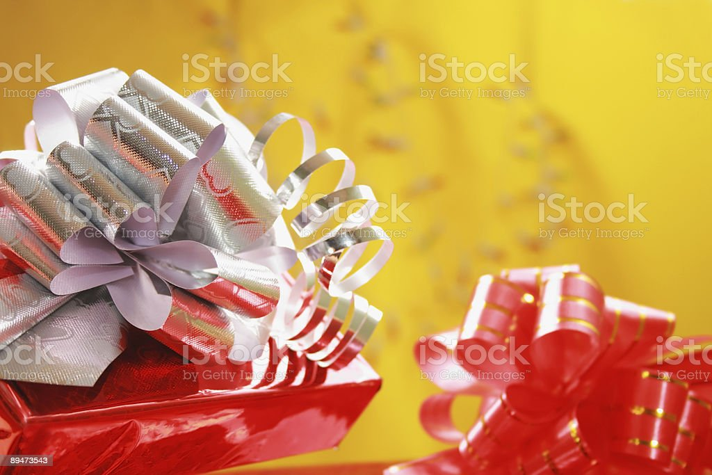Christmas Gift and Ornaments. royalty-free stock photo