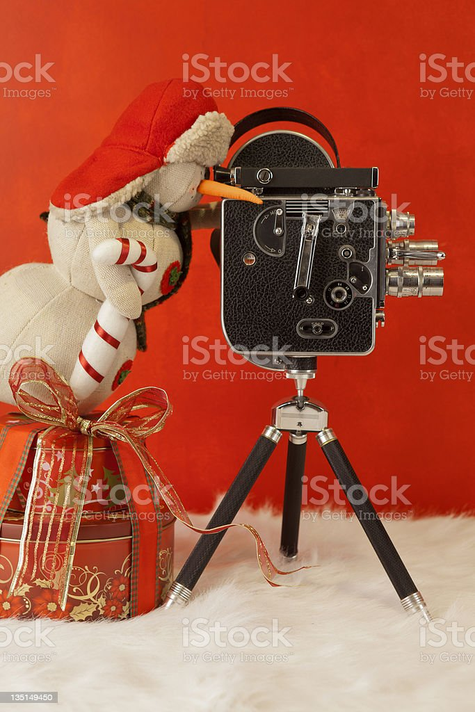 Christmas gift and record royalty-free stock photo