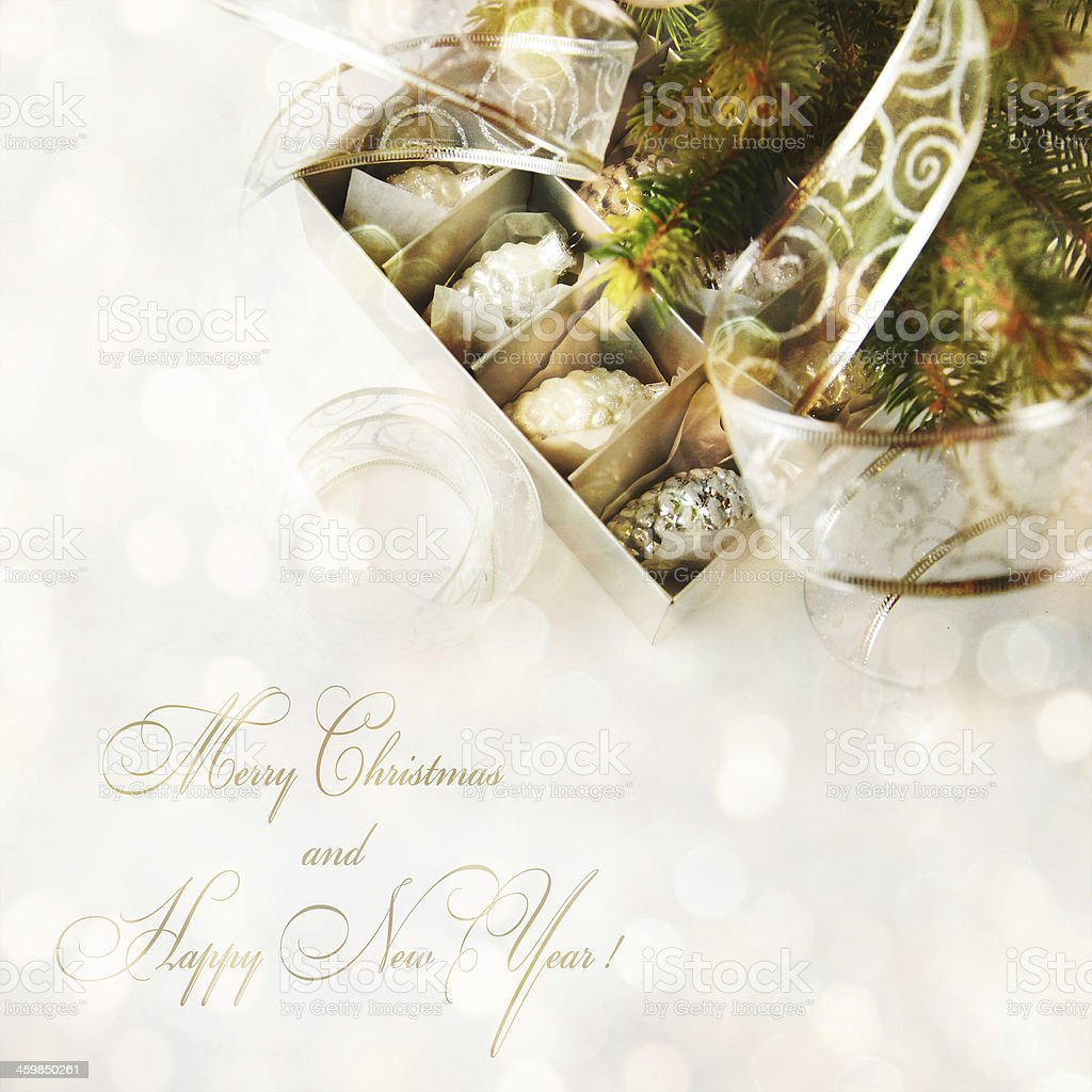 Christmas gift box. royalty-free stock photo