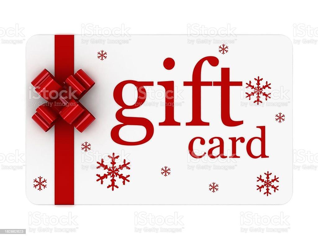 Christmas Gift Card stock photo