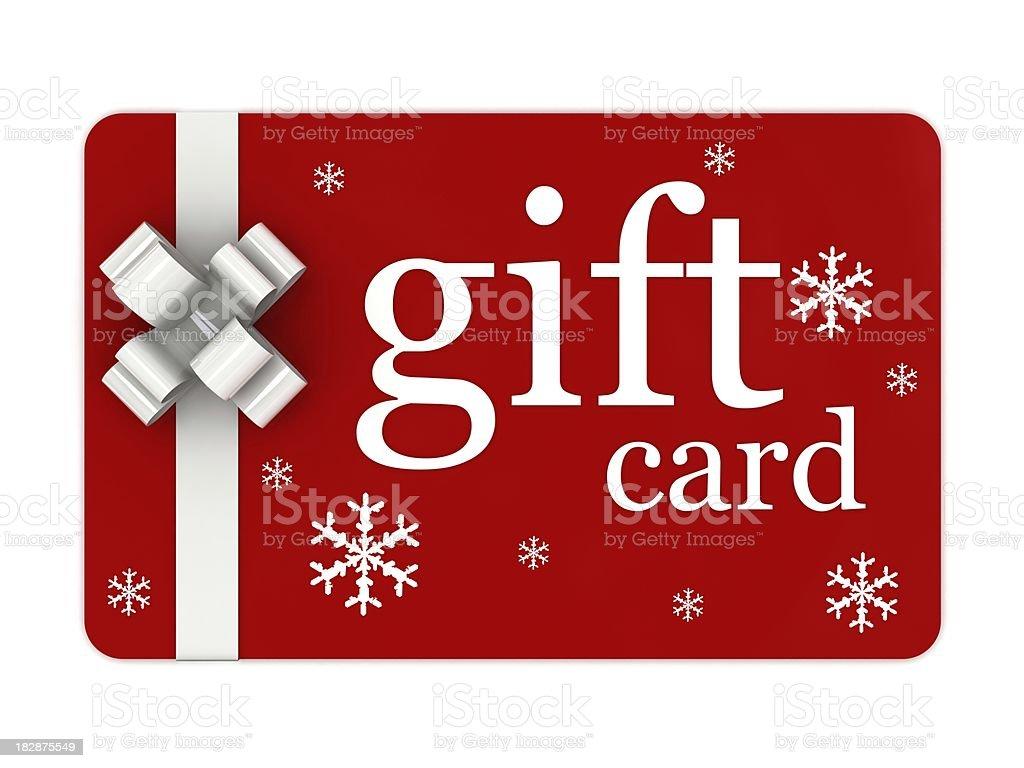 Christmas Gift Card royalty-free stock photo