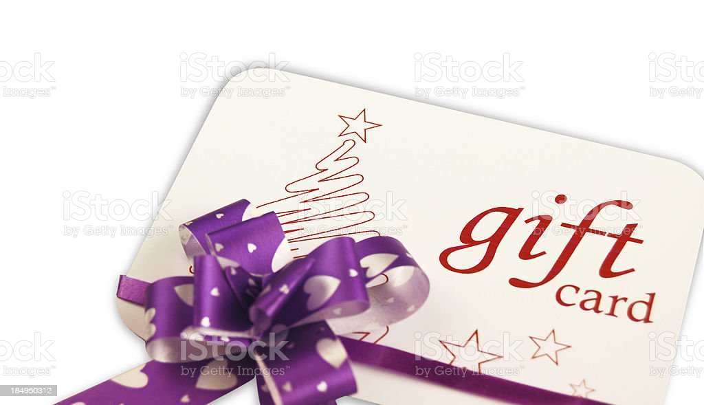 Christmas Gift Card royalty-free stock photo
