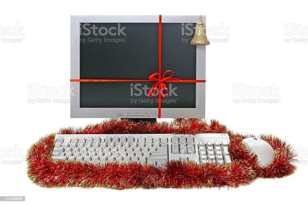 Christmas gift - Computer royalty-free stock photo