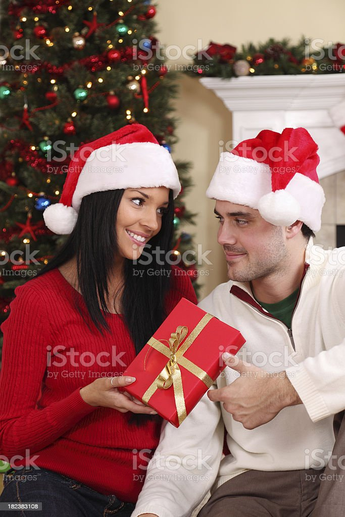 Christmas Gift Giving royalty-free stock photo