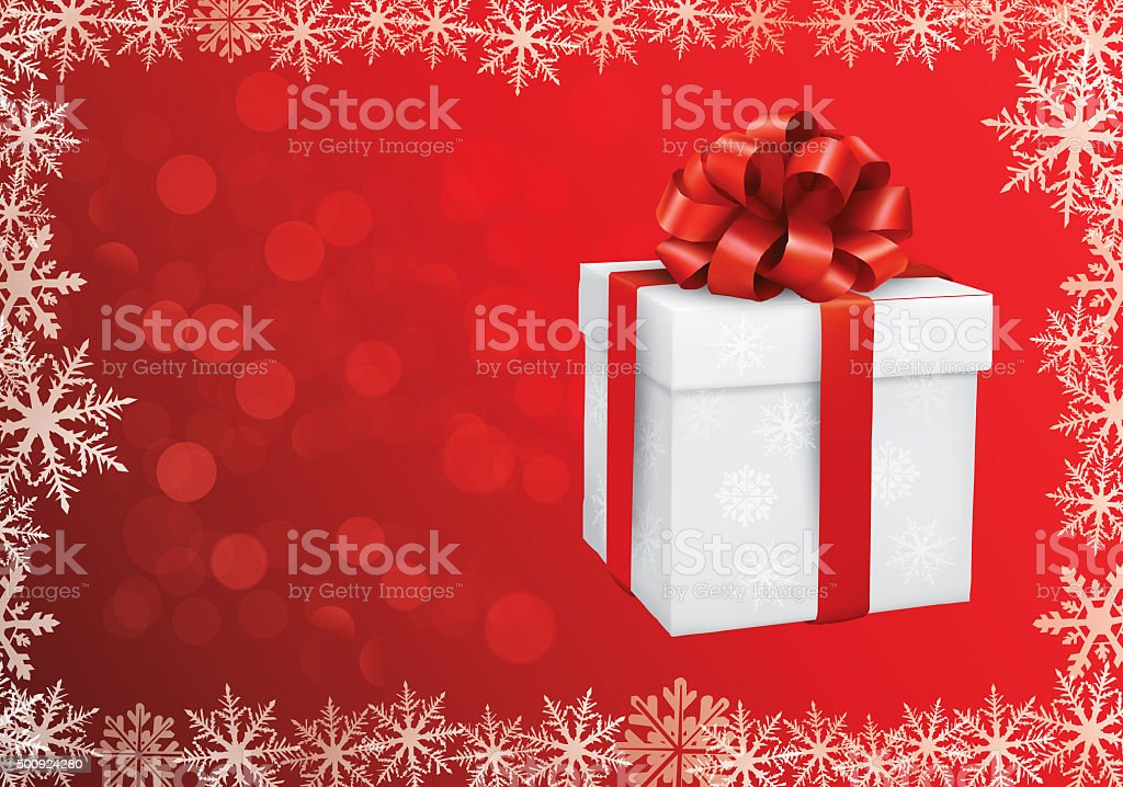 Christmas Gift on Background stock photo