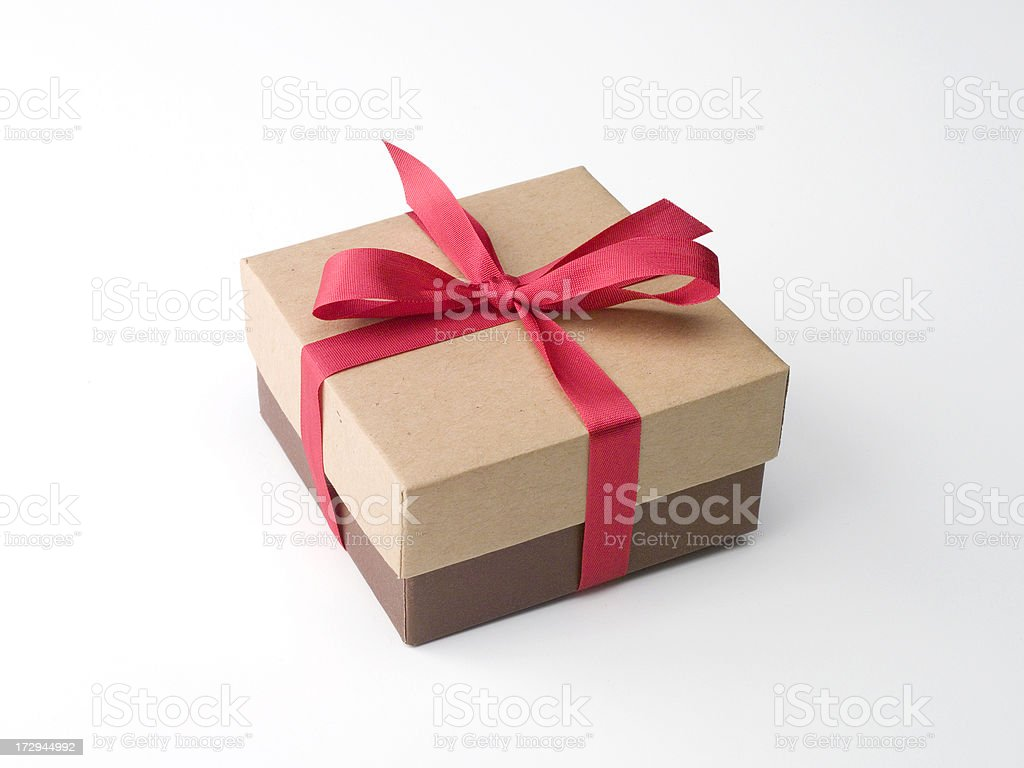Christmas Gift on White royalty-free stock photo