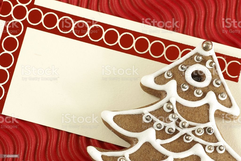 Christmas gift tag royalty-free stock photo