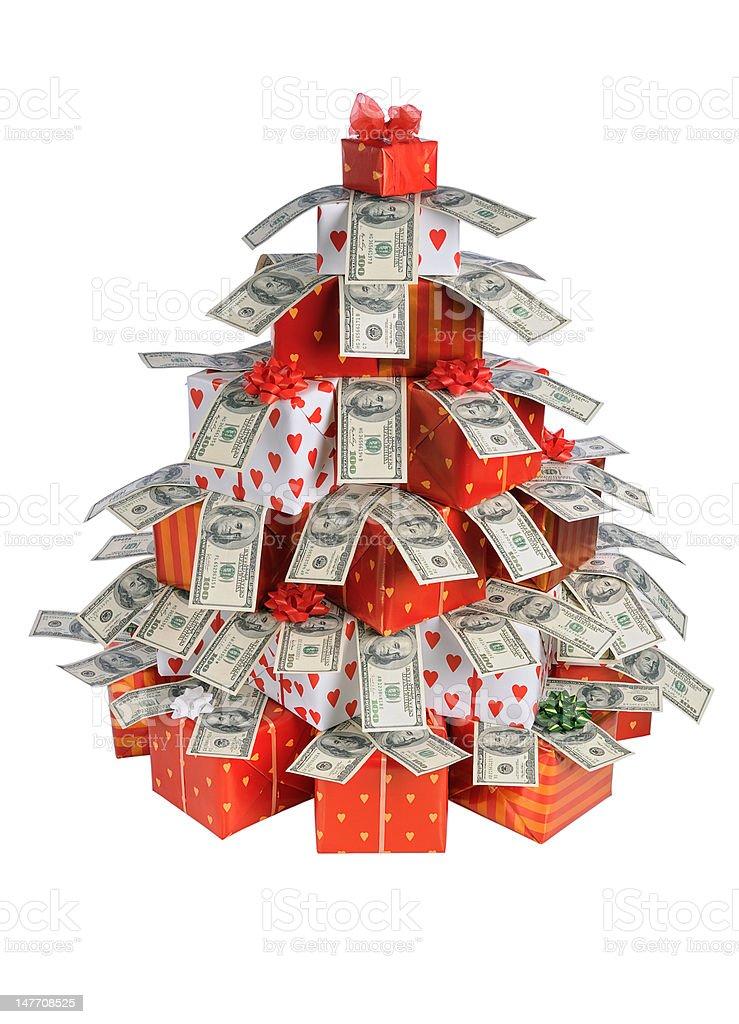Christmas gift tree royalty-free stock photo