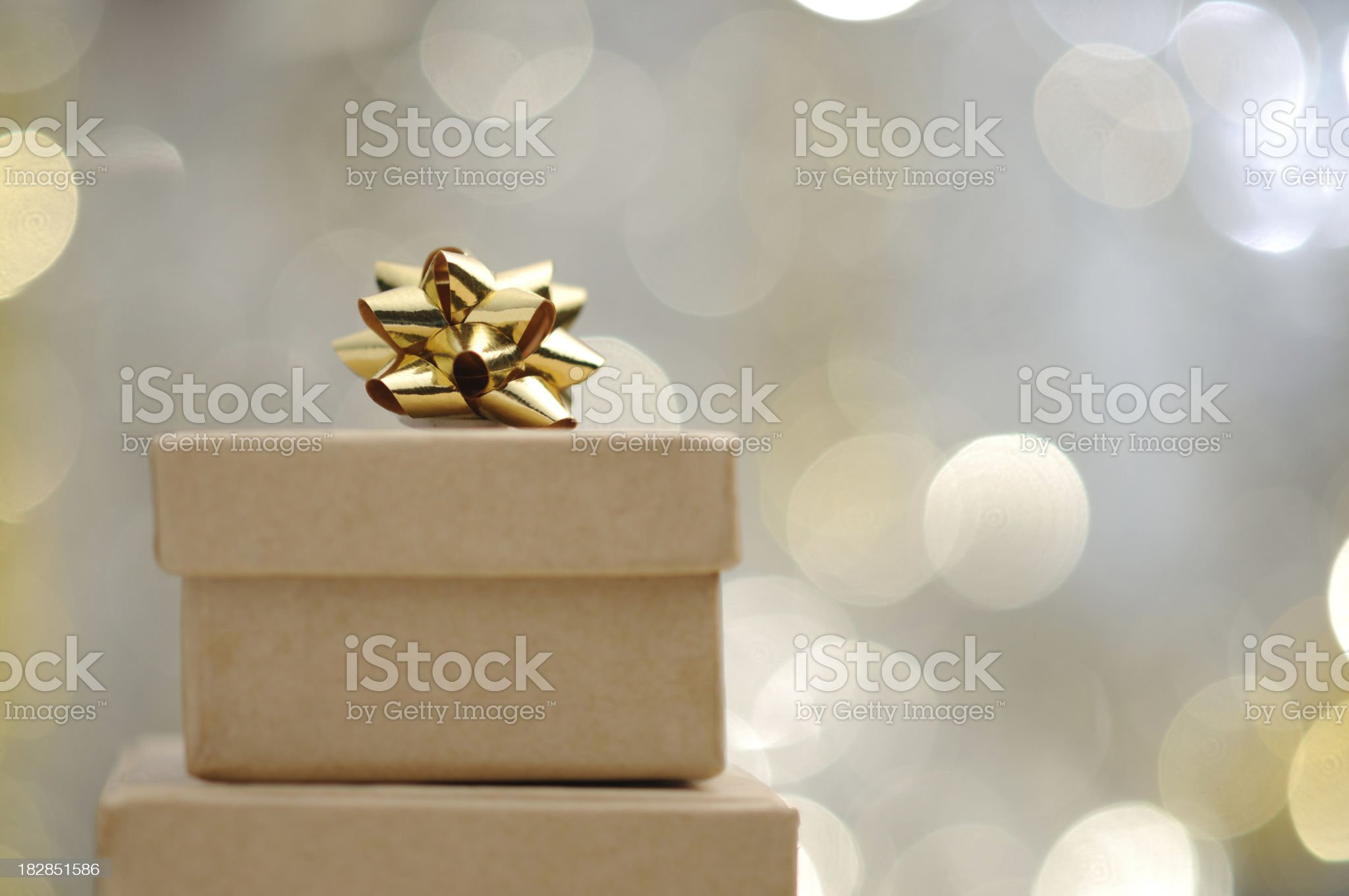 Christmas gift with illuminated background royalty-free stock photo