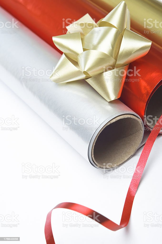 Christmas Gift Wrap royalty-free stock photo