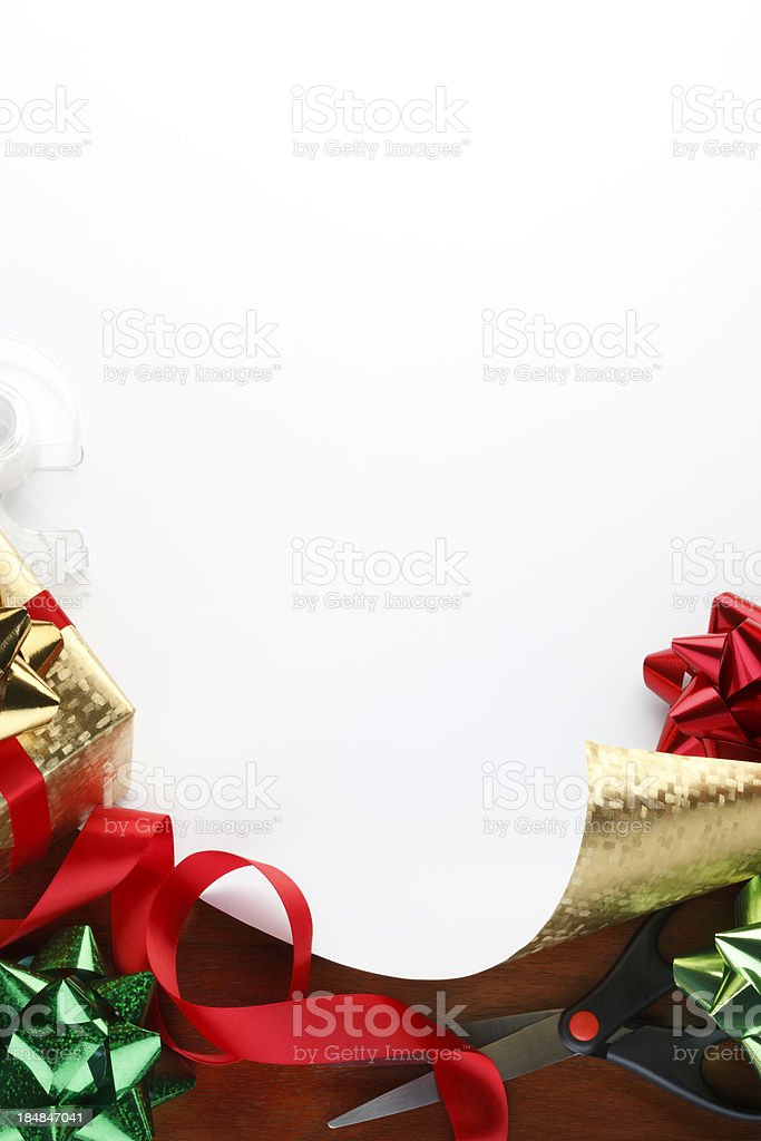 Christmas Gift Wrapping royalty-free stock photo