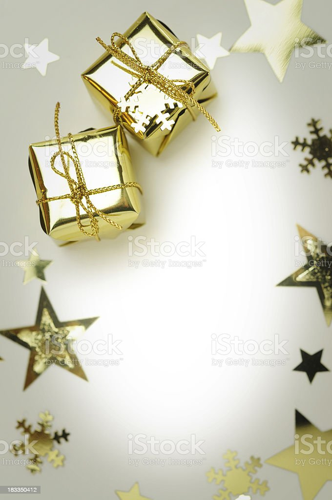 Christmas gifts as a frame royalty-free stock photo