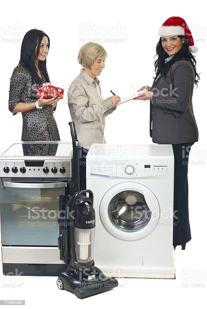 Christmas gifts delivery royalty-free stock photo