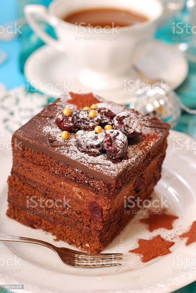 christmas gingerbread cake royalty-free stock photo