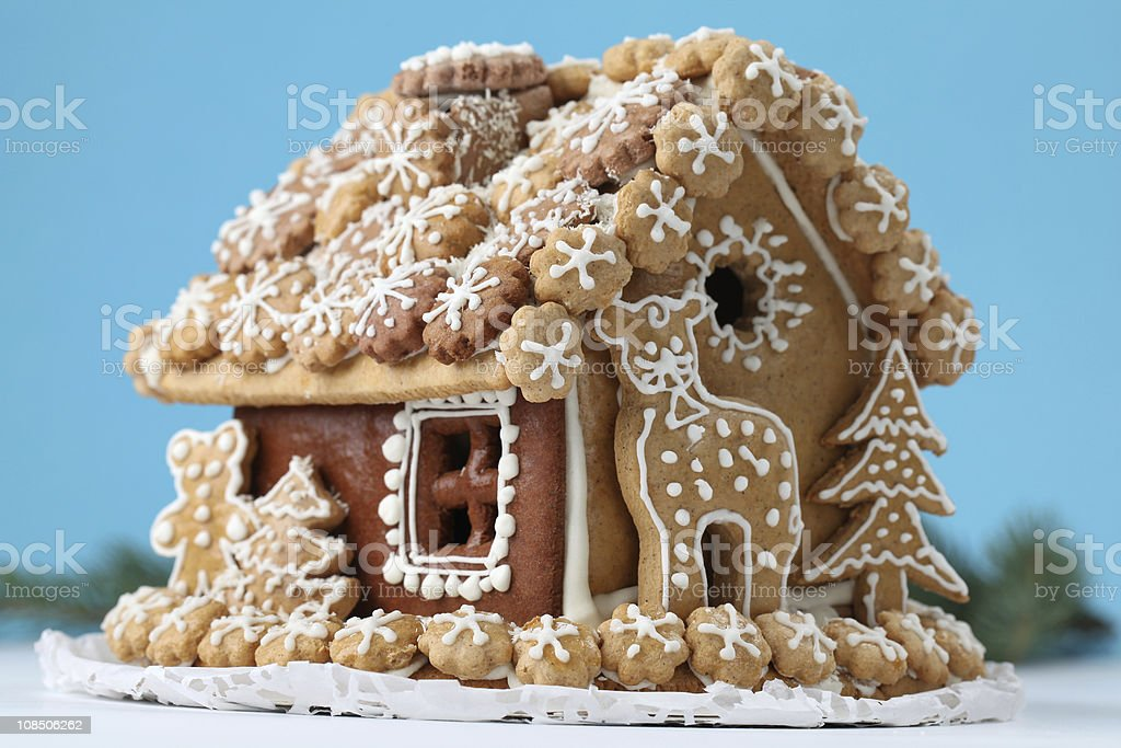 Christmas gingerbread house royalty-free stock photo