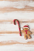 Christmas gingerbread man with candy