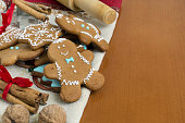 christmas gingerbreads on a table