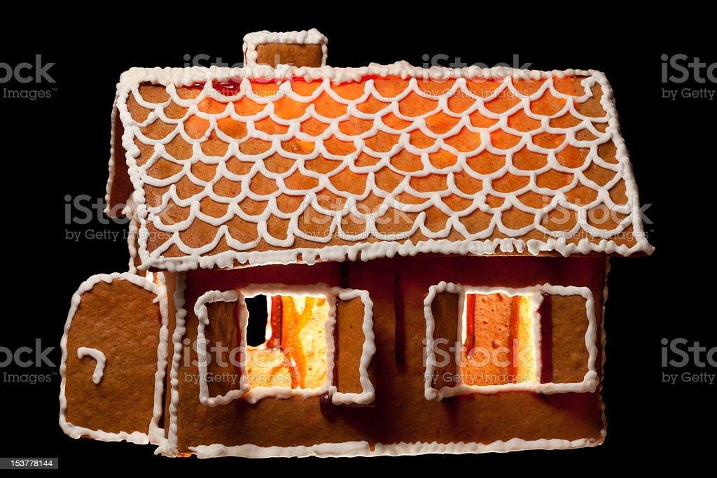 Christmas gingernut house stock photo