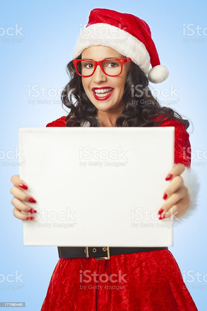 Christmas girl with copy space royalty-free stock photo