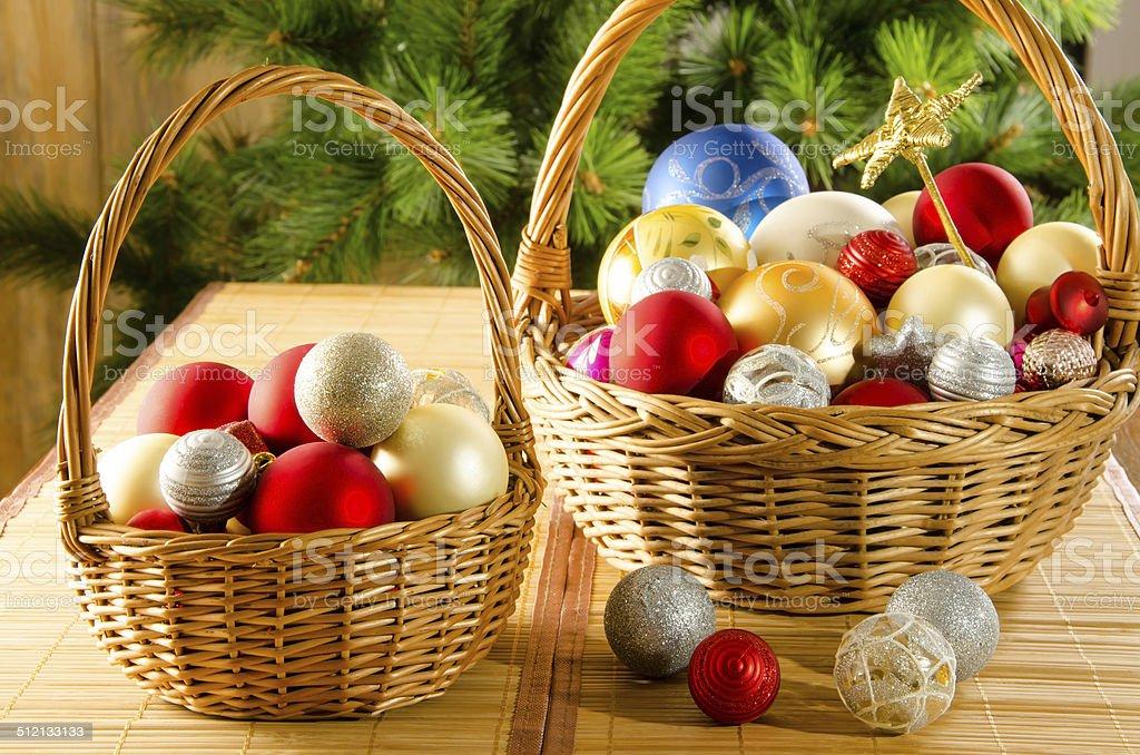 Bolas de Navidad vidrio foto de stock libre de derechos