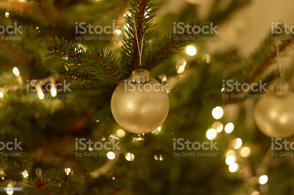 Christmas glitter ball stock photo