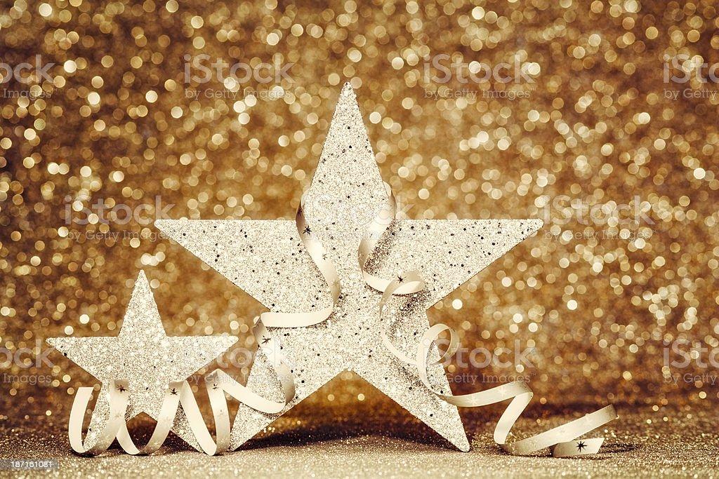 Christmas glitter Stars royalty-free stock photo