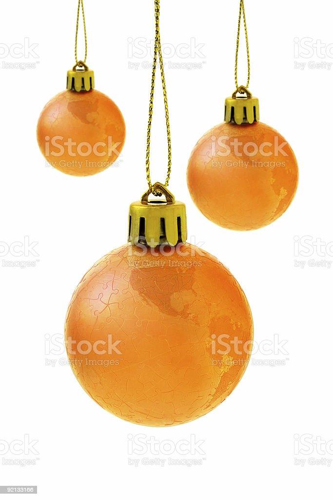 Christmas globe baubles royalty-free stock photo