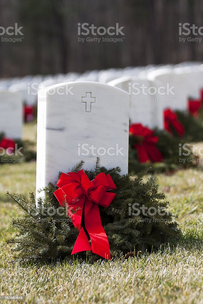 Christmas Grave royalty-free stock photo