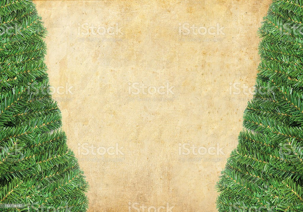 Christmas green framework with Pine needles isolated royalty-free stock photo
