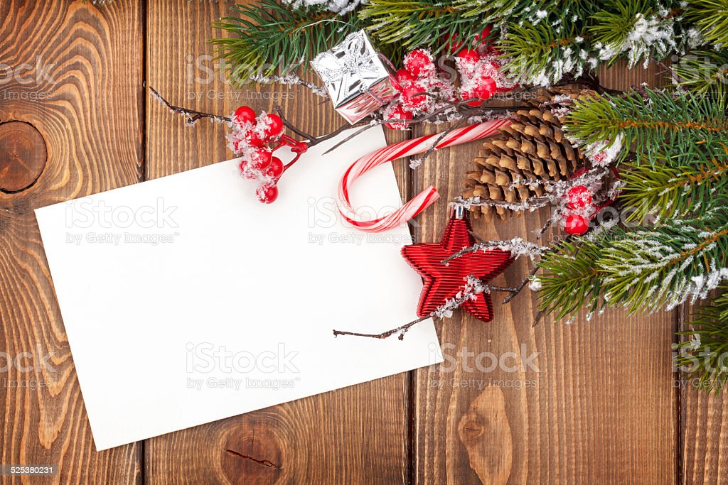 Christmas greeting card or photo frame stock photo