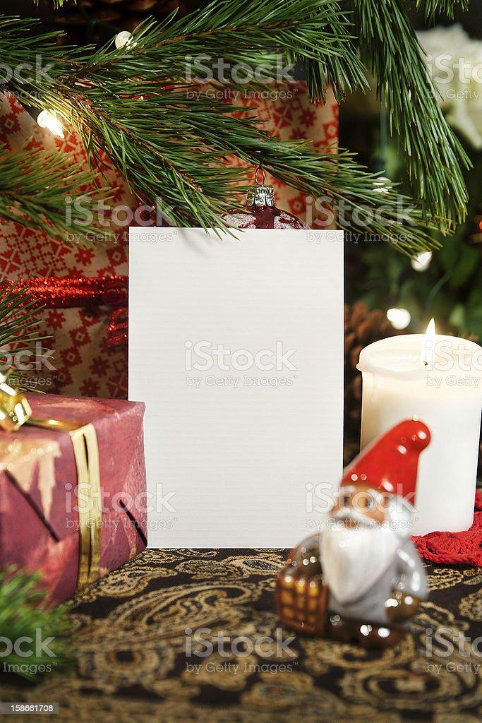 Christmas greeting card royalty-free stock photo