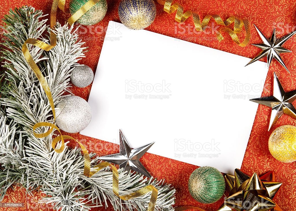 Christmas greeting card with copy space royalty-free stock photo