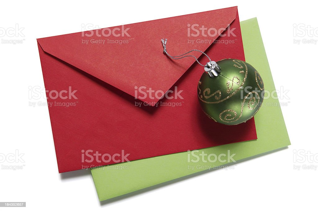 christmas greeting (w/path) royalty-free stock photo