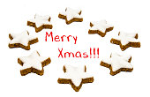 Christmas greetings - cookies and text