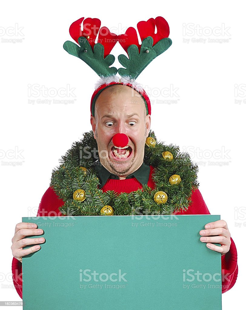 Christmas Guy - In Shock! royalty-free stock photo