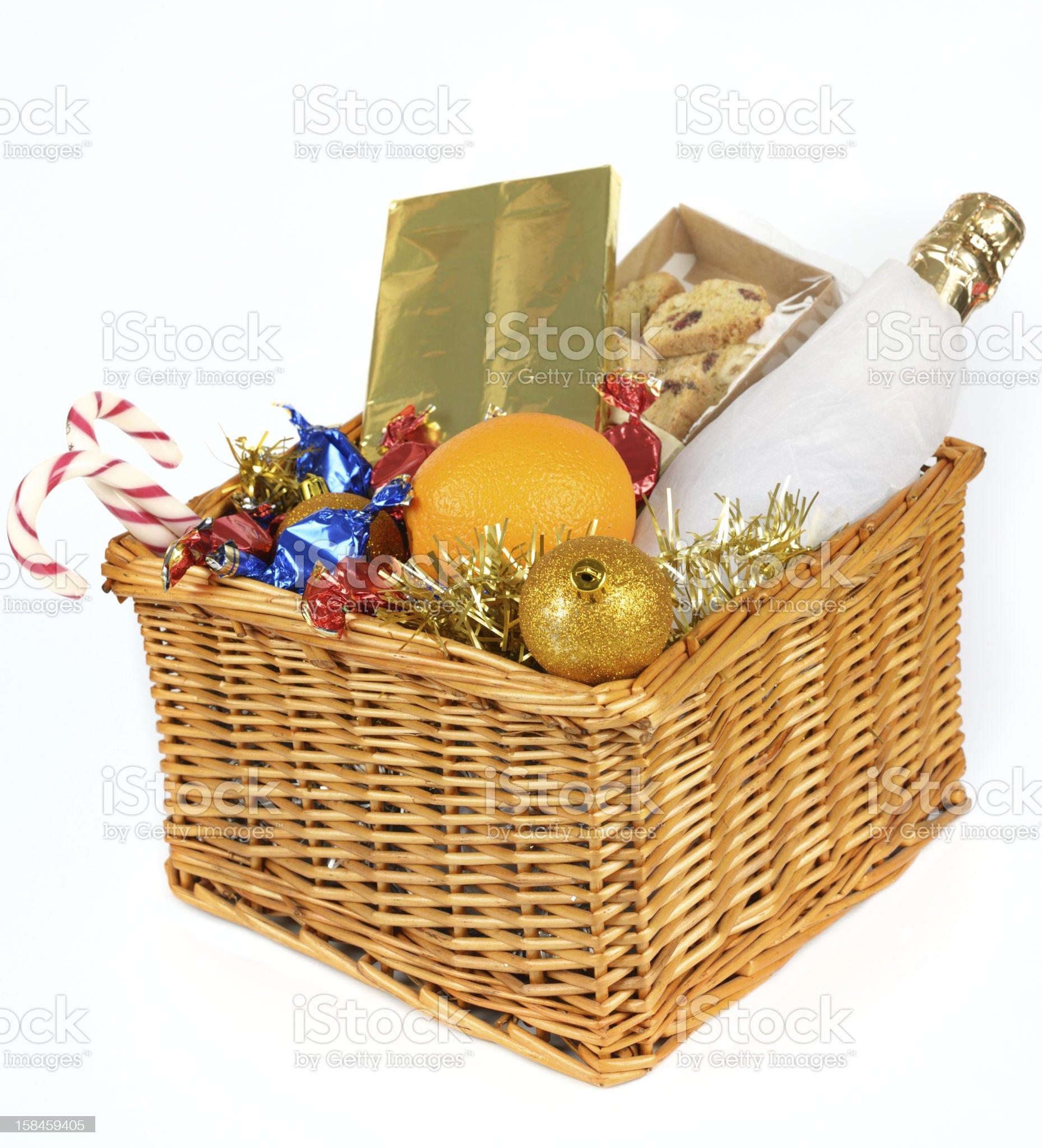 Christmas hamper royalty-free stock photo