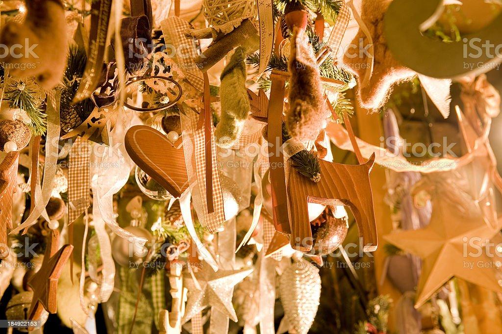 christmas handmade decoration royalty-free stock photo