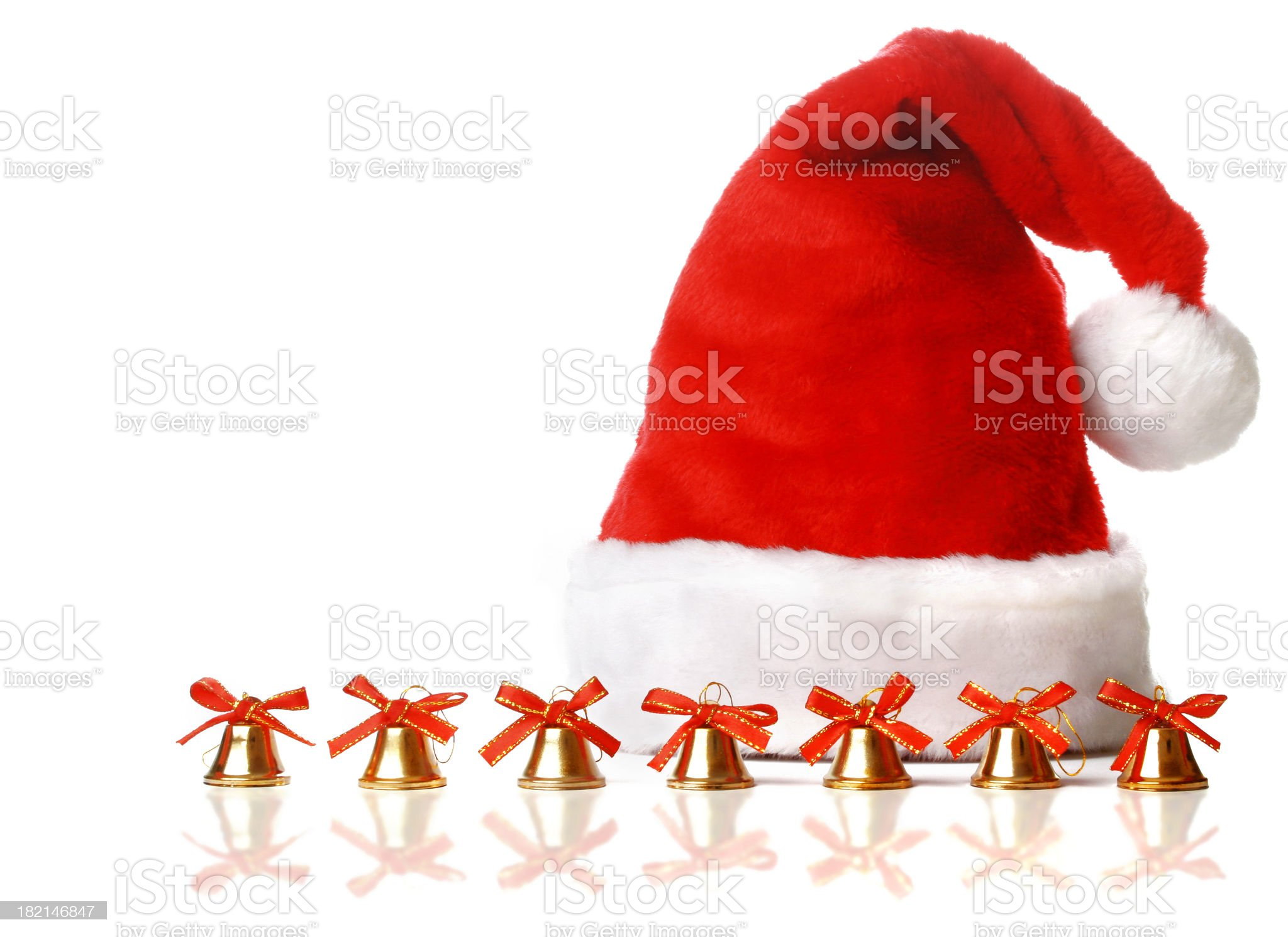 Christmas Hat and Bells royalty-free stock photo